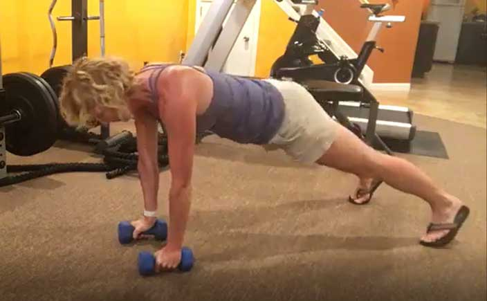 Using Dumbbells to Support Your Plank